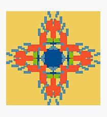 Sunny Geometric Flame Flower Photographic Print
