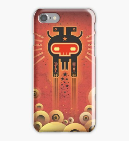 ELECTROCHAMAN Red face iPhone Case/Skin