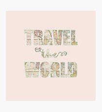 Travel the world Lámina fotográfica