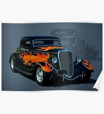 "1934 Ford Hot Rod ""The California Kid"" Poster"
