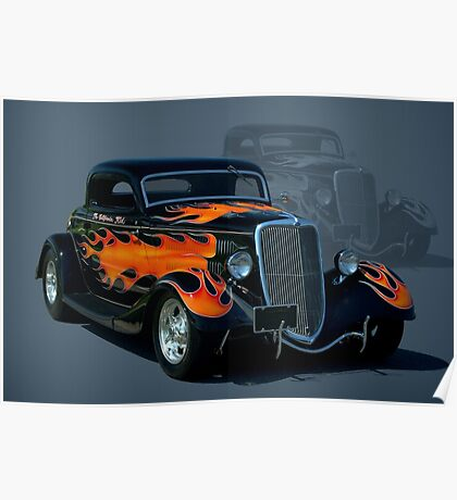 """1934 Ford Hot Rod """"The California Kid"""" Poster"""