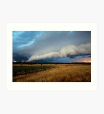 gustfront on the grapevine - central ranges, Vic Art Print