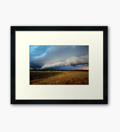 gustfront on the grapevine - central ranges, Vic Framed Print