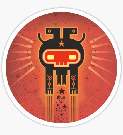 ELECTROCHAMAN Red face Sticker