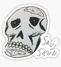 Sad skull Sticker