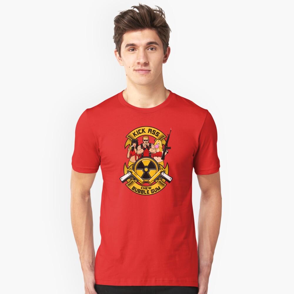 Kick ass! Chew bubble gum! Unisex T-Shirt Front