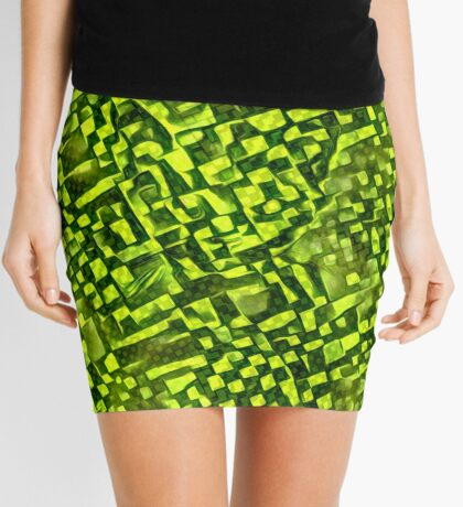 Cubismish cat Mini Skirt