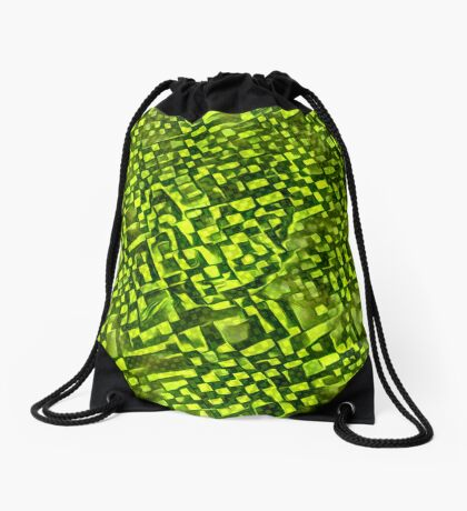 Cubismish cat Drawstring Bag