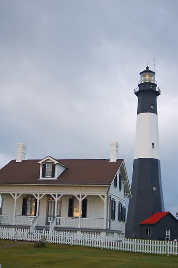 """The Tybee Island Lighthouse by Arthur """"Butch"""" Petty"""
