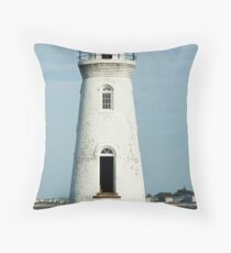 The Cockspur Lighthouse Throw Pillow