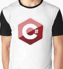 c# c sharp red Graphic T-Shirt