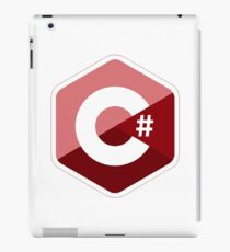 c# c sharp red iPad Case/Skin