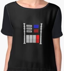 Darth Vader's Chest Panel Women's Chiffon Top
