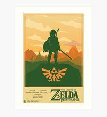 Lámina artística Leyenda de Zelda: Aliento del salvaje Cartel