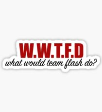 what would team flash do? Sticker