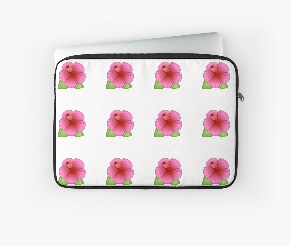 Hibiscus Flower Laptop Sleeves By Kerrazyyy Redbubble