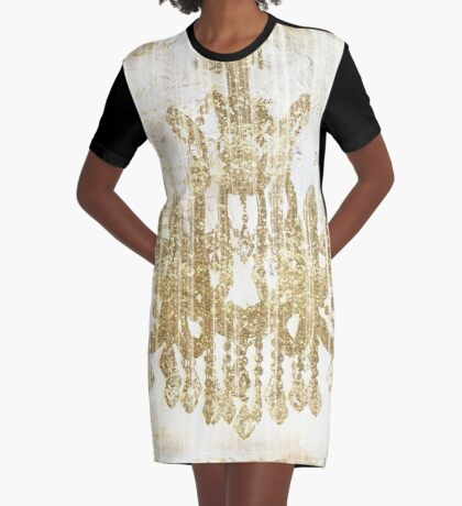 Fairytale Ballroom Graphic T-Shirt Dress