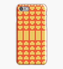 Flame and Primrose Yellow Art Deco iPhone Case/Skin