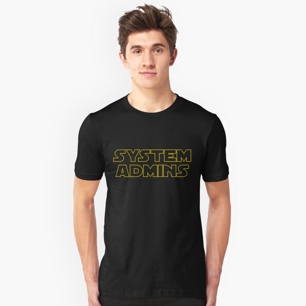 system admins Camiseta unisex Front