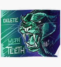 Delete With Teeth - Black Panther Snarl Poster