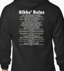 Gibbs' Rules - White Version Zipped Hoodie
