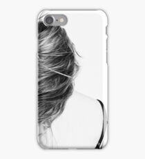 Girl Hair Mind Move Long Hair Back View Woman iPhone Case/Skin
