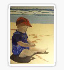 Andrew on the Beach Sticker