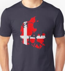 Denmark map flag Unisex T-Shirt