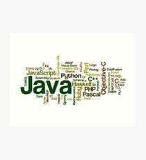 programming languages cloud java Art Print