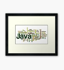 programming languages cloud java Framed Print