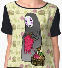 Crafts with No-Face Chiffon Top