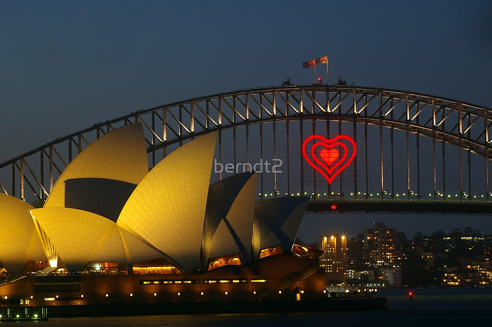 Heart on Bridge by berndt2