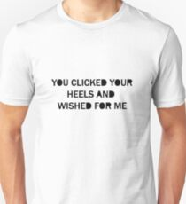 YOU CLICKED YOUR HEELS Unisex T-Shirt