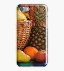 basket full fruit abundance iPhone Case/Skin