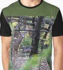 Velvet White-tailed Buck Graphic T-Shirt