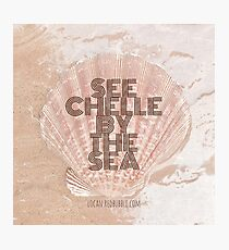 SEE CHELLE BY THE SEA Photographic Print