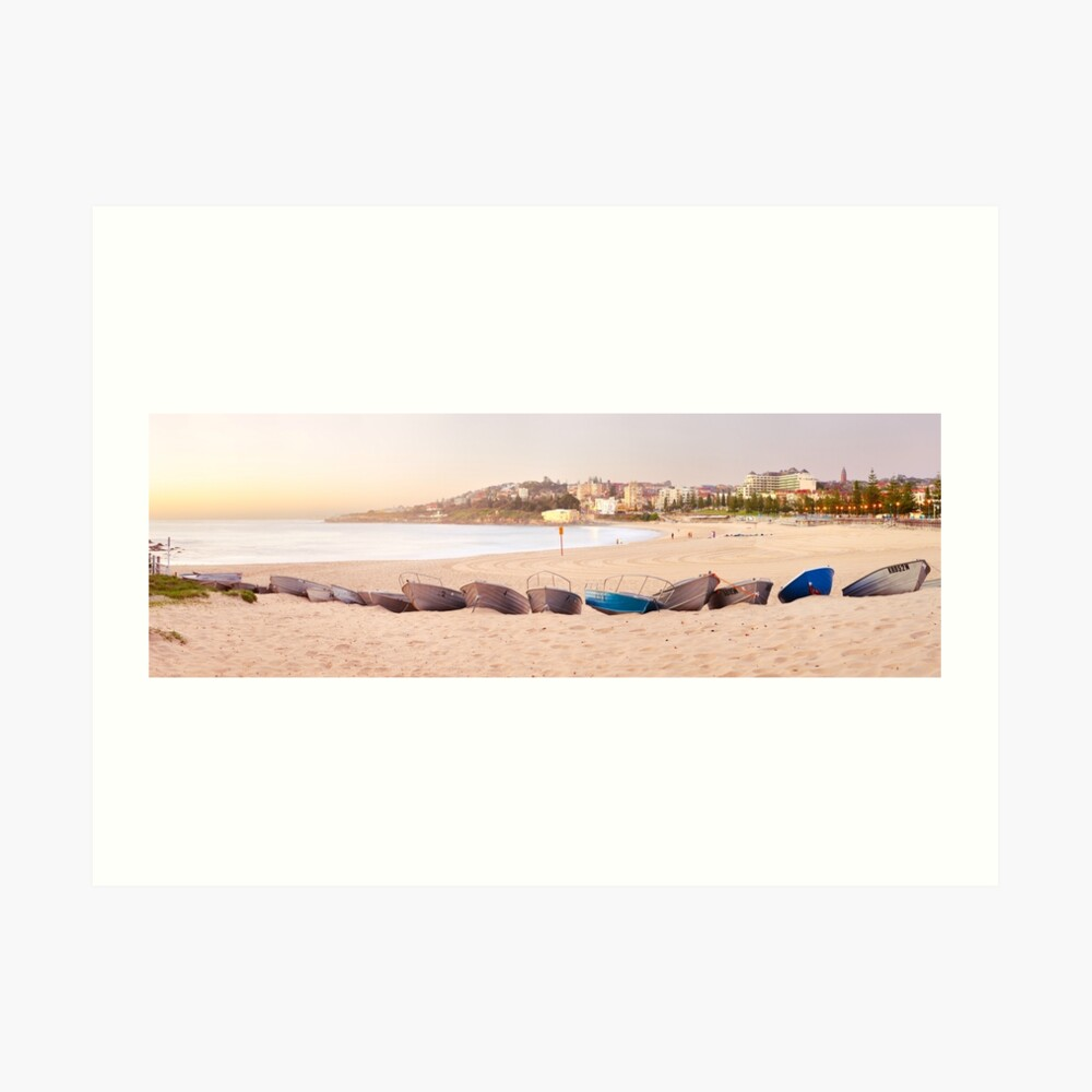Coogee Beach Boats, Sydney, New South Wales, Australia Art Print
