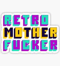Retro Motherfucker Sticker