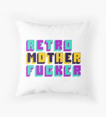 Retro Motherfucker Throw Pillow