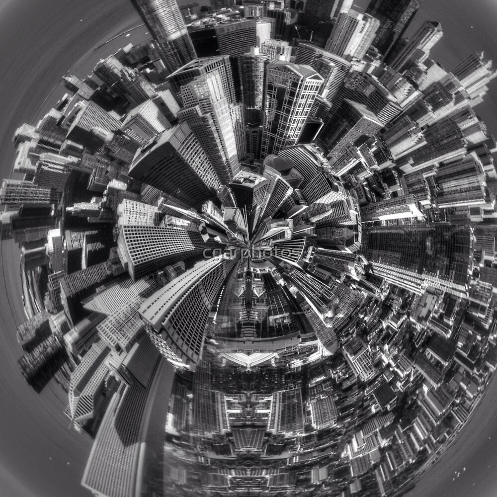 Little planet of Chicago by cgarphotos