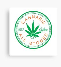 Cannabis Logorythm Canvas Print