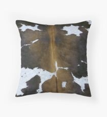 Cowhide | Texture #home #lifestyle Throw Pillow