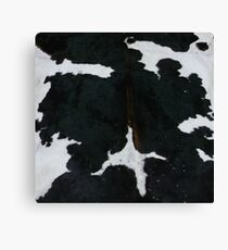 Black and white cowhide | Texture #home #lifestyle Canvas Print