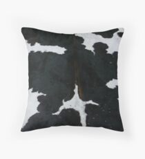 Black and white cowhide | Texture #home #lifestyle Throw Pillow