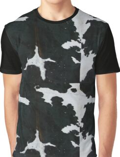 Black and white cowhide | Texture Graphic T-Shirt