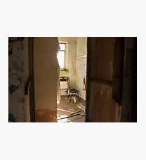 Urban Exploration -  Chair In A Corner Photographic Print