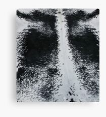 Speckled Black and white cowhide | Texture #home #lifestyle Canvas Print