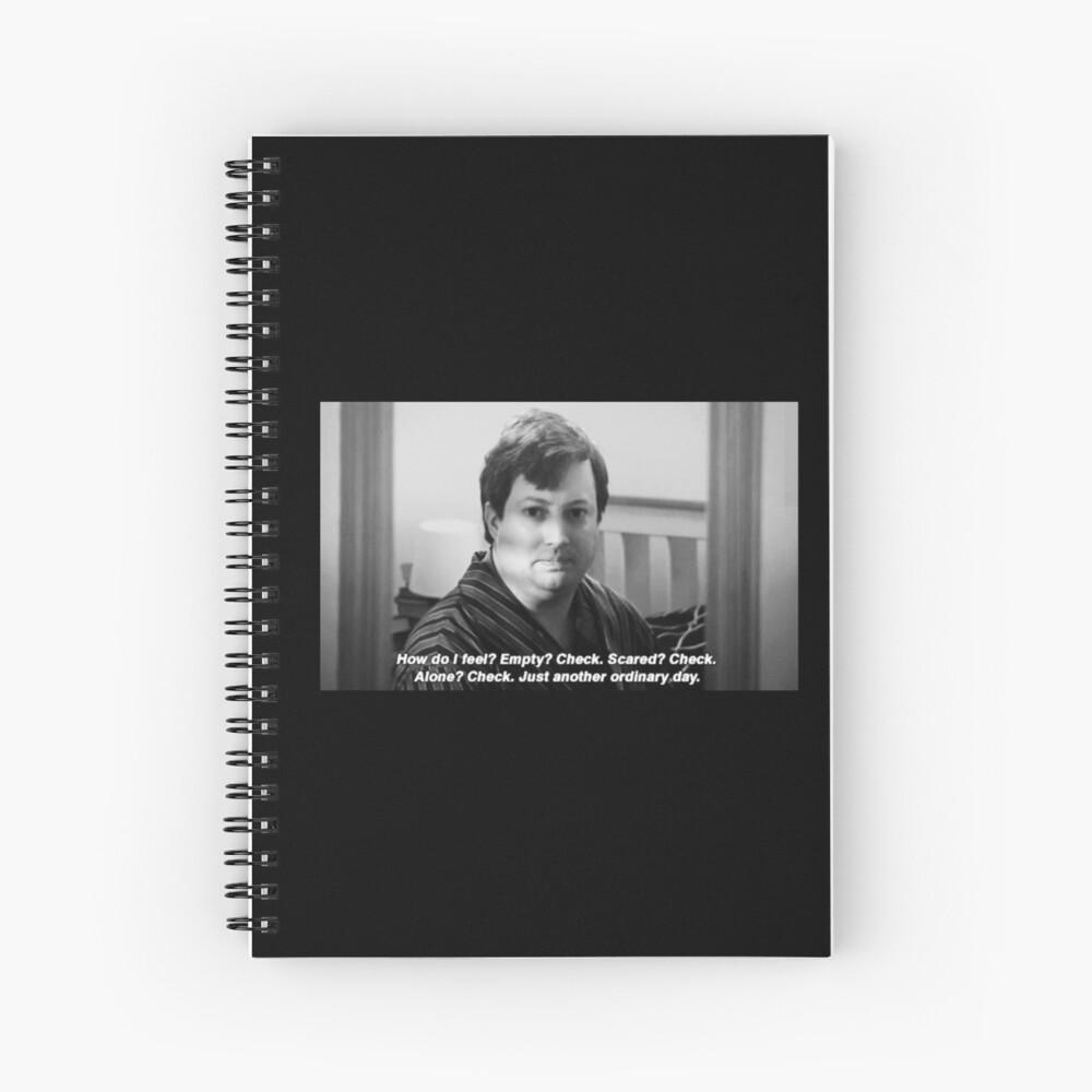 "Peep Show Mark ""Simplemente otro día ordinario"". Impresión Cuaderno de espiral"