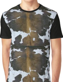 Tan, white and black cowhide | Texture Graphic T-Shirt