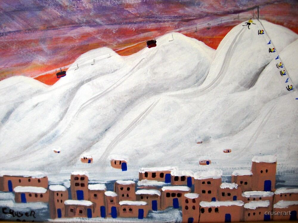 Skiing New  Mexico by cruserart